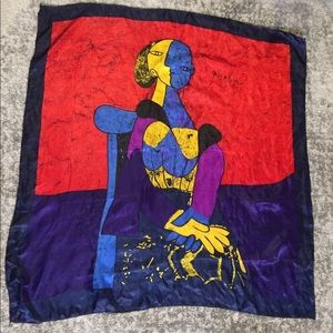 VTG Picasso PALOMA silk abstract scarf